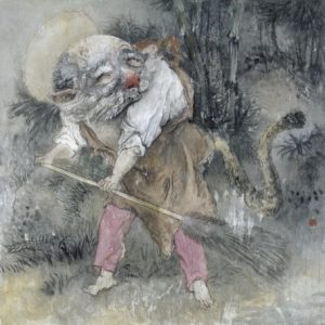 """In addition to making films, Qiu Jiongjiong is an artist represented by the Star Gallery. This is """"Cleaning Up."""""""