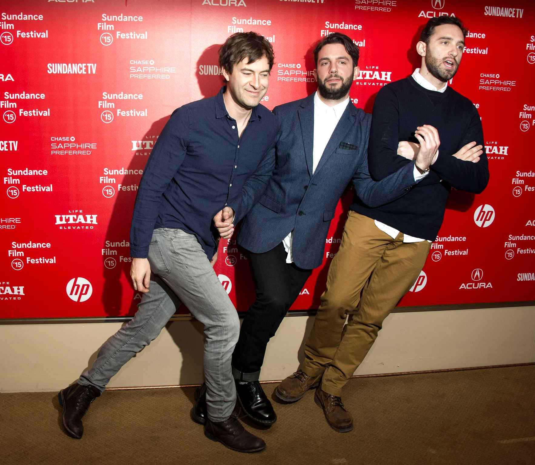 Phil Matarese, Mike Luciano with their mentor/Exec Producer Mark Duplass:  L. to R. Mark Duplass, Phil Matarese, Mike Luciano (Photo by Arthur Mola/Invision/AP)