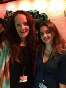 """""""A Flickering Truth"""" director Pietra Brettkelly (left) and Courtney Sheehan (right) at the 2015 Toronto International Film Festival."""