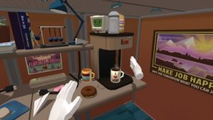 A still from Job Simulator a VR experience at New Frontier in the New Frontier section of the 2016 Sundance Film Festival. (Courtesy Sundance Film Festival)
