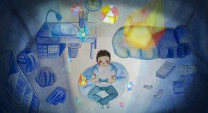 Taro's World Concept watercolour rendering by Kaho Yoshida