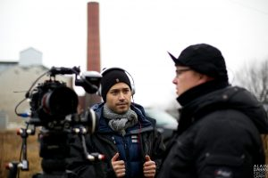 Stéphan Beaudoin  on set