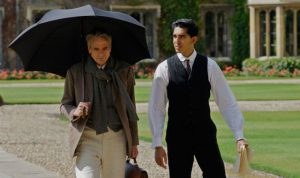 "Jeremy Irons and Dev Patel in ""The Man Who Knew Infinity"""