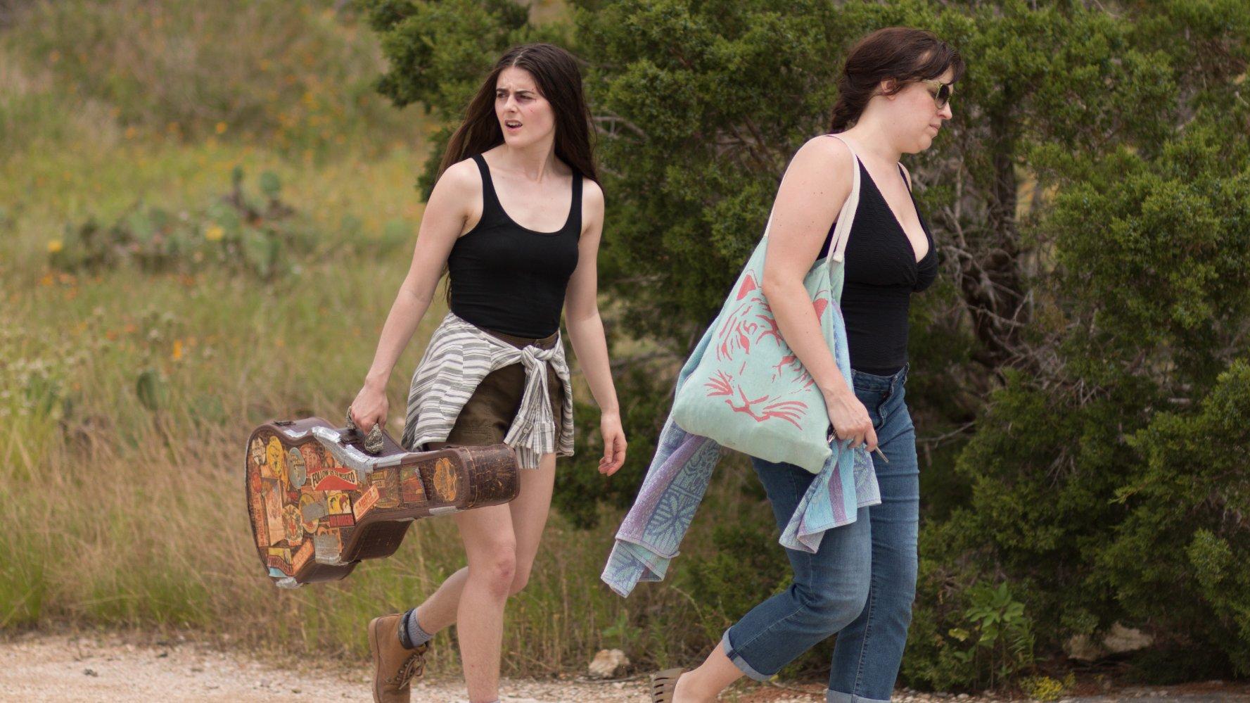 Sophie Reid and Allison Tolman in Jason Cortlund and Julia Halperin's film La Barracuda.