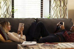 "Zoe Kazan as ""Emily"" and Kumail Nanjiani as ""Kumail"" in THE BIG SICK. Photo by Nicole Rivelli."