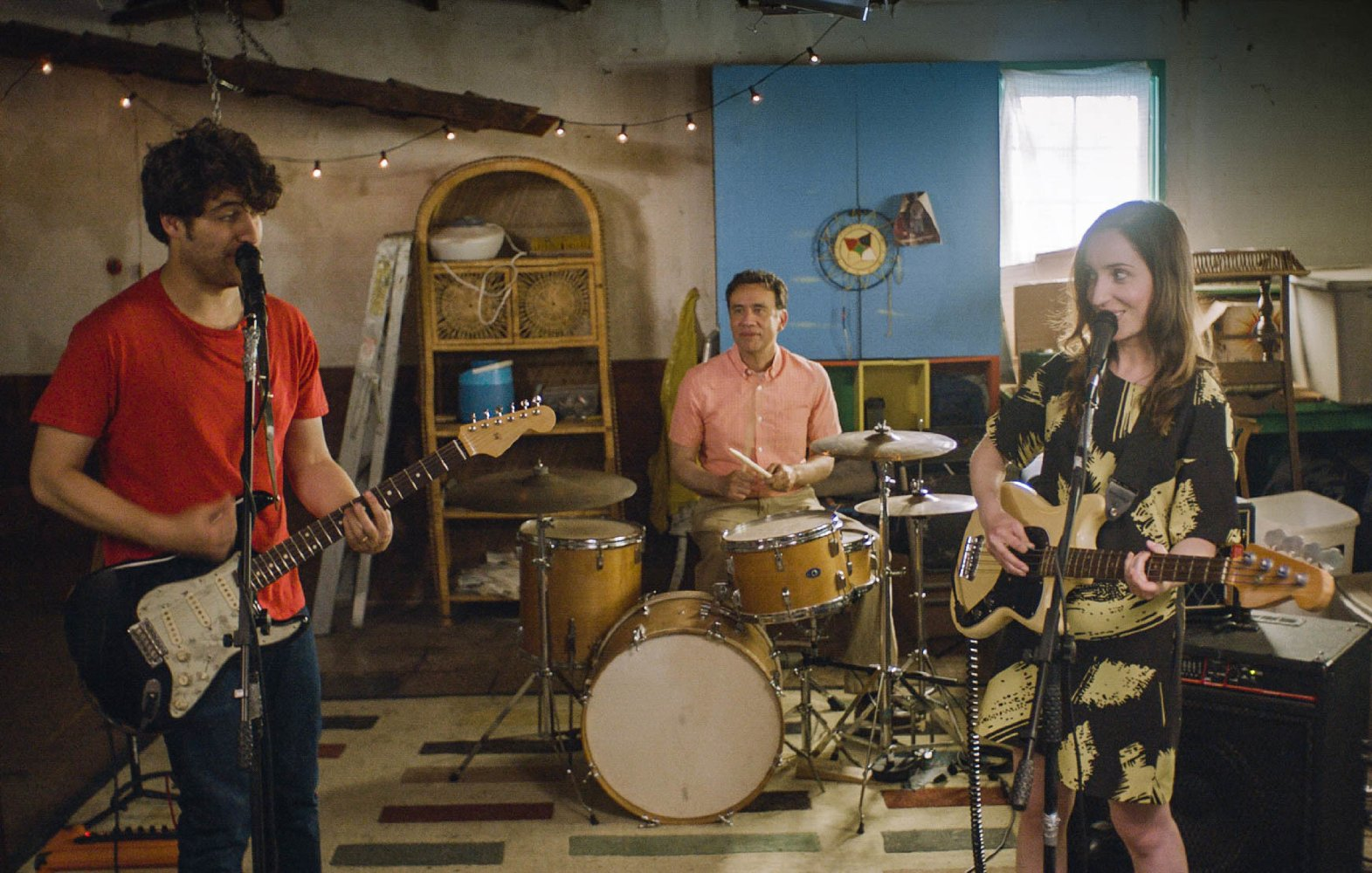 Adam Pally, Fred Armisen, and Zoe Lister-Jones start a band to save a marriage in BAND AID.