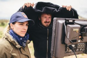Natasha Kermani on set of Imitating Girl