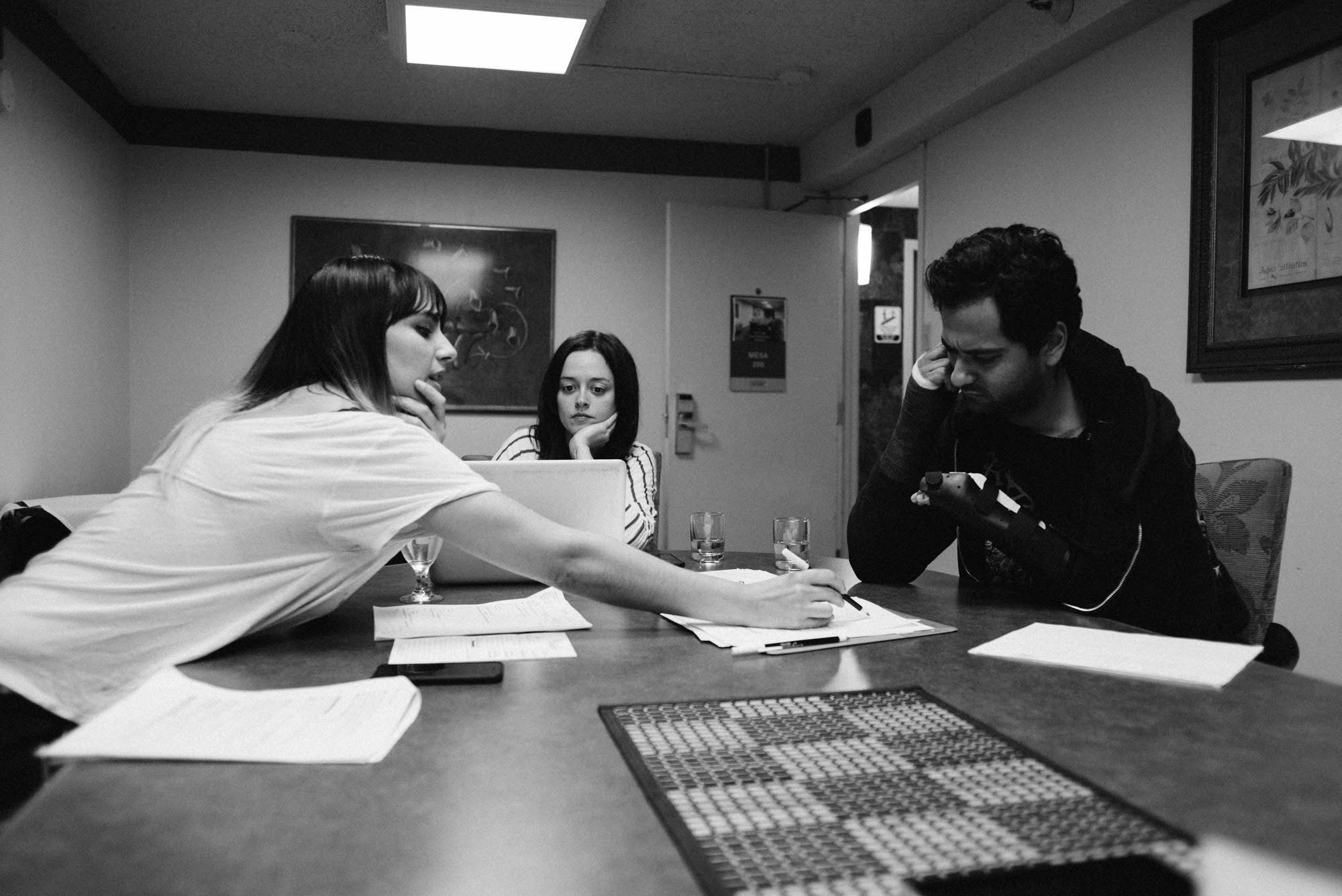 Natasha Kermani working with actors Lauren Carter and Neimah Djourabchi