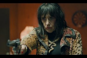 Queen Mary (Rosemary Hochschild) gets angry in The Queen of Hollywood Blvd.