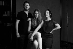 Three filmmakers