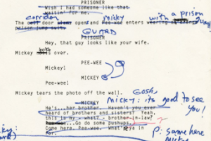 Paul Reuben's annotated script from Pee Wee's Big Adventure (1985)