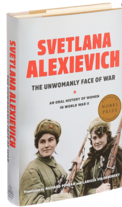 The cover of The Unwomanly Face of War origin book of the film Beanpole