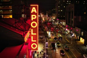 The Apollo theater and 125th Street in the documentary The Apollo