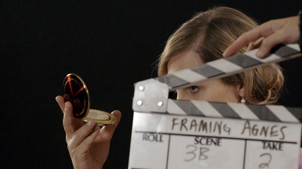 Agnes (Zackary Drucker) preparing for her interview in the documentary Framing Agnes