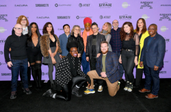 The cast and crew of the documentary Disclosure: Trans Lives on Screen
