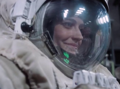 Eve Green in Spacesuit.