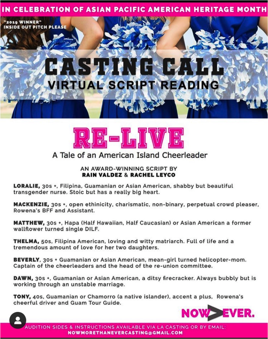 Casting Page for Re-Live