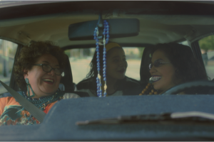 Still from Joyride, three women in a car.