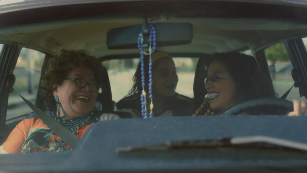 Still from Joyride, three women in a car.
