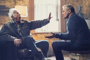 A scene from the film Falling with Lance Henriksen and Viggo Mortensen