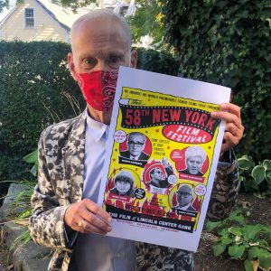 John Waters and poster for the New York Film Festival.