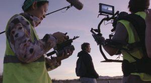 Chloe Zhao filming Frances McDormand