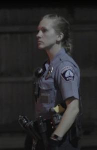 White policewoman