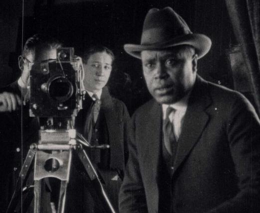 Oscar Micheaux filming