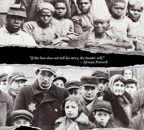 Photos of Black slaves in America and Jews in Nazi Germany