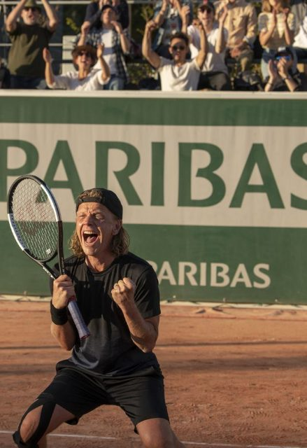 Alex on the tennis court.