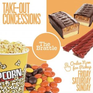 Movie theatre candy and popcorn advertisement