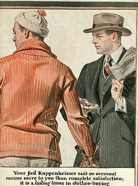 A standard ad with two men by Leyendecker.